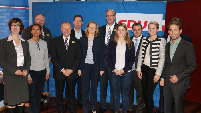Der neu gewählte Kreisvorstand der CDU Stormarn beim Kreisparteitag 2016